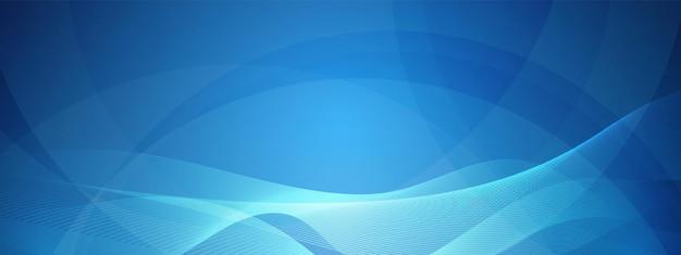 Niebieska technologia fala projekt sieć cyfrowa tło koncepcja komunikacji nakładające się koło