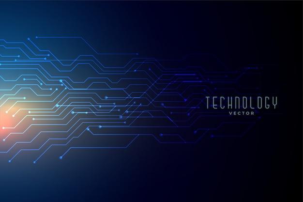 Niebieska technologia siatki tło