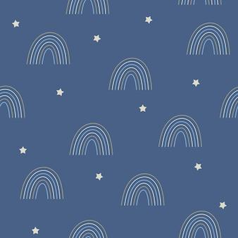Niebieska tęcza niebieski wzór.
