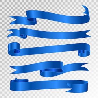 Niebieska wstążka na przezroczystym tle