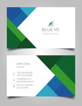 Niebieska zielona wizytówka