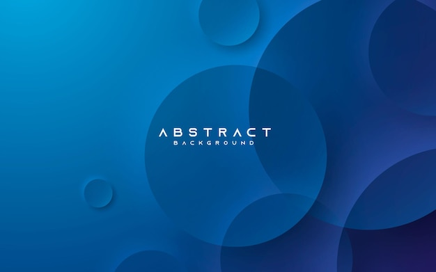 Niebieski abstrakcyjne tło elegancki kształt koła