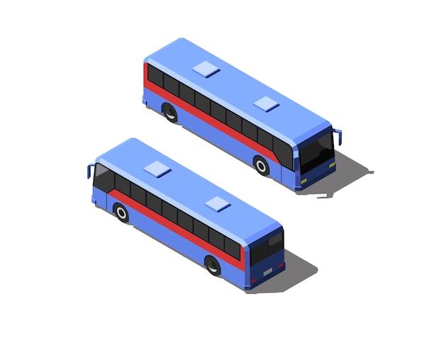 Niebieski autobus pasażerski