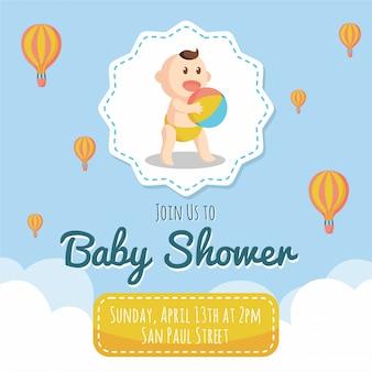 Niebieski baby shower
