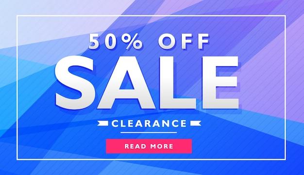 Niebieski baner reklamowy projektowania szablonu plakatu kupon