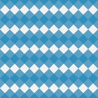 Niebieski bawełniany wzór w kratkę tekstura z rombowych kwadratów na obrusy w kratę