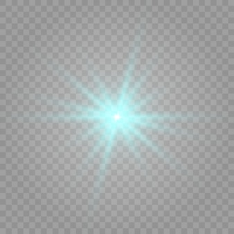 Niebieski blask. kolor niebieski, błysk. używane elipsy. ilustracja jest narysowana na tle w kratkę.