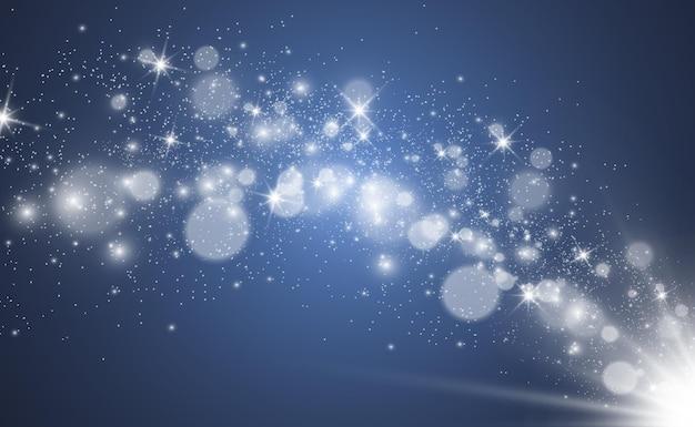 Niebieski bokeh tło ciemny złoty boże narodzenie glamour wektor boże narodzenie impreza rozmyte fajerwerki ove