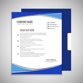 Niebieski broszura szablonu