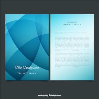Niebieski bruchure szablon w stylu abstrakcyjna