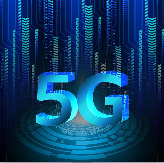 Niebieski cyber obwodu przyszłości technologii koncepcja tło