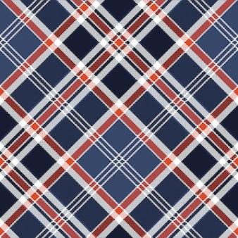 Niebieski czek tkanina tekstura piksel wzór