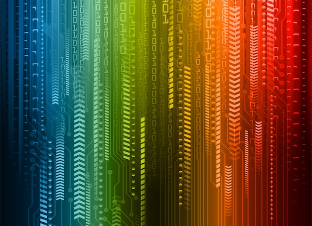 Niebieski czerwony obwód cyber przyszłości koncepcja technologii tło