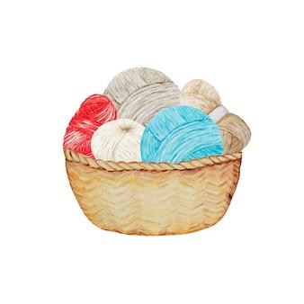 Niebieski czerwony szary beż crochet