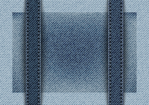 Niebieski denim w pionowe paski