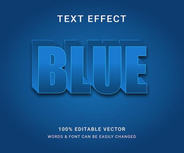 Niebieski edytowalny efekt tekstowy