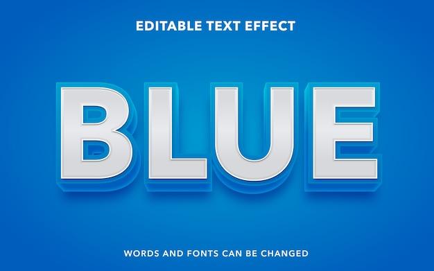 Niebieski edytowalny styl efektu tekstu
