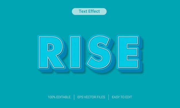 Niebieski efekt edytowalnego stylu tekstu