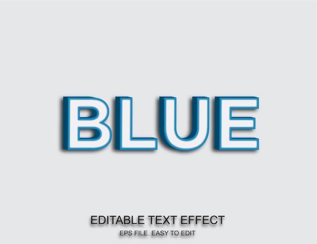 Niebieski efekt tekstowy 3d