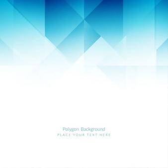 Niebieski elegancki wzór tła wielokąta