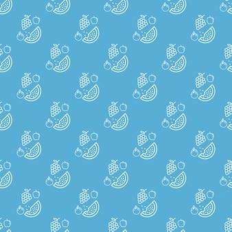 Niebieski frutal wzornictwo