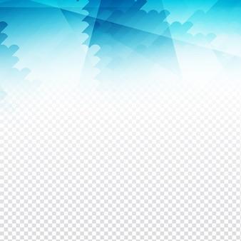 Niebieski geometryczny kształt na przezroczystym tle