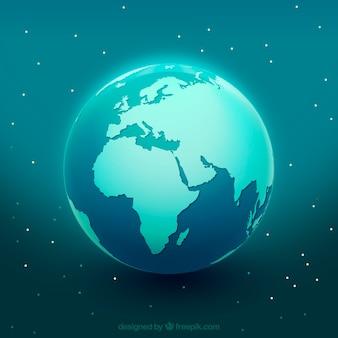 Niebieski glob ziemi