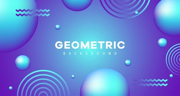 Niebieski gradient geometryczny wzór tła