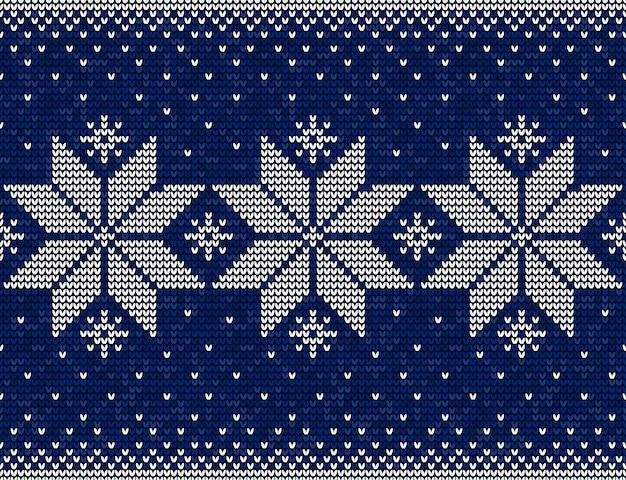 Niebieski i biały boże narodzenie wzór z płatki śniegu