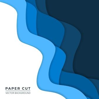 Niebieski i biały papier wyciąć abstrakcyjne tło