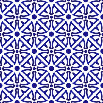 Niebieski i biały wzór bez szwu
