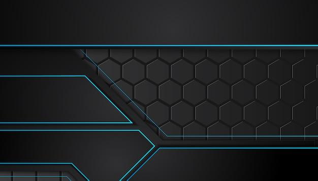 Niebieski i czarny abstrakcyjne tła biznesowych