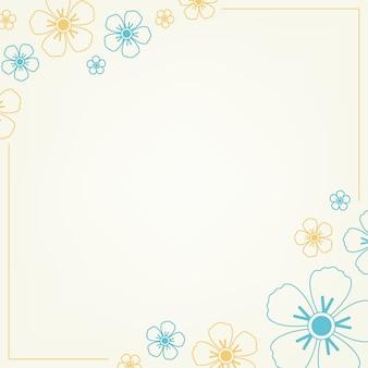 Niebieski i żółty kwiatowy wzór