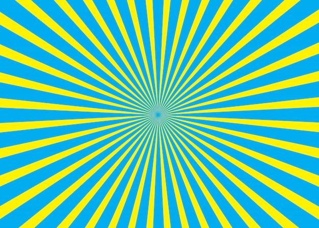 Niebieski i żółty słoneczny tło
