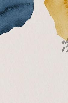 Niebieski i żółty szablon tła z akwarelą watercolor