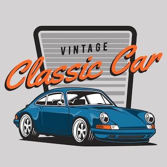 Niebieski klasyczny samochód