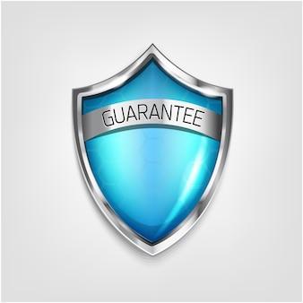 Niebieski kolor ochrony tarcza gwarancja ikona na białym tle. ochrona przed wirusami 3d