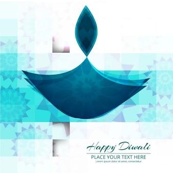 Niebieski kolor tła błyszczące szczęśliwy diwali
