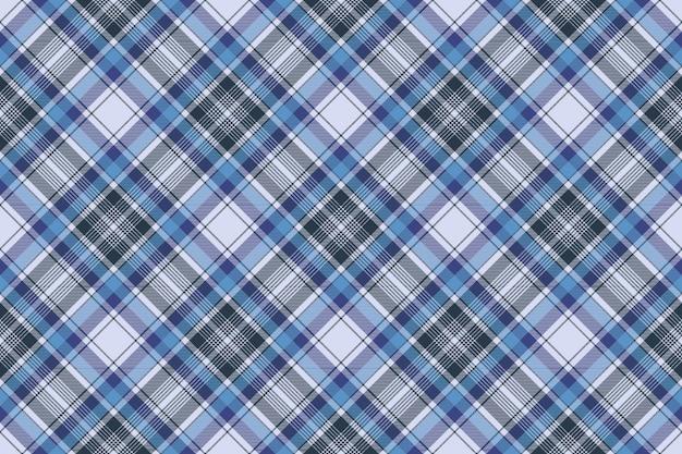 Niebieski kratę kratę wzór tkaniny kratka