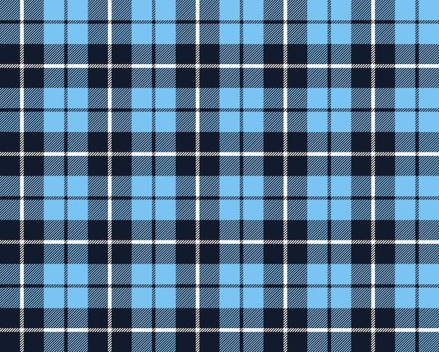 Niebieski kratę tkanina tekstura wzór bez szwu