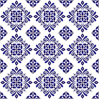Niebieski kwiatowy wzór