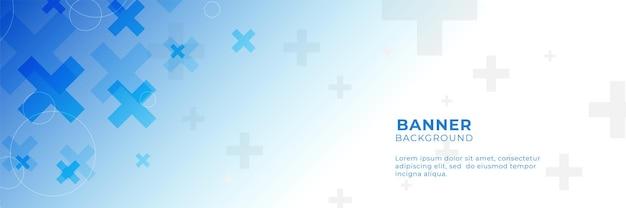 Niebieski medyczne zdrowie streszczenie tło ze znakiem plus. projekt szablonu z koncepcją i pomysłem na technologię opieki zdrowotnej, innowacyjną medycynę, zdrowie, naukę i badania.