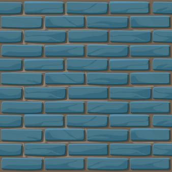 Niebieski mur z cegły tekstury bez szwu. ilustracja kamienie ściany. wzór