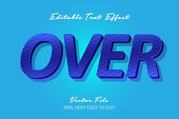 Niebieski nad efektem tekstowym