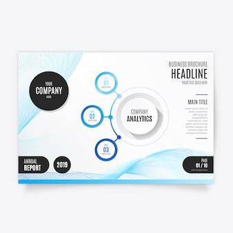 Niebieski nowoczesny szablon broszura dla biznesu