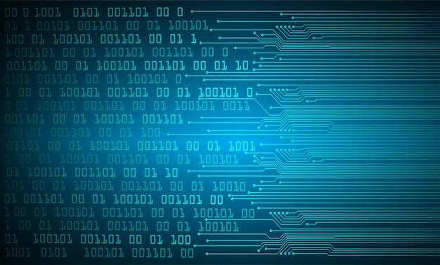 Niebieski obwód cyber przyszłości koncepcja technologii