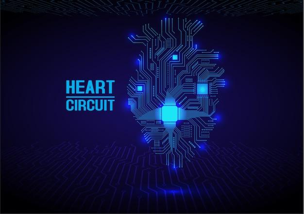 Niebieski obwód elektroniki