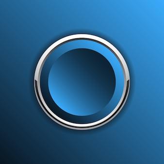 Niebieski okrągły przycisk web.