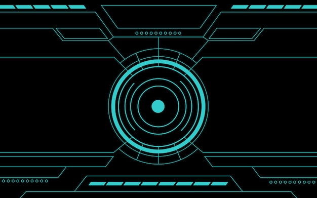 Niebieski panel sterowania streszczenie technologii