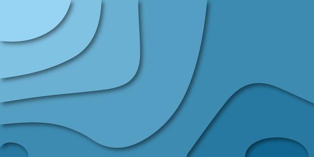 Niebieski papier cięty streszczenie tło.